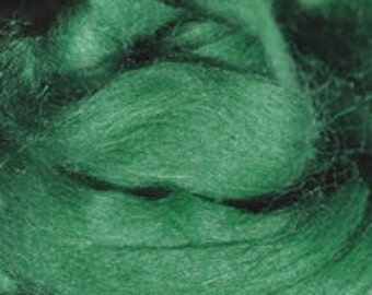 Alpaca Yarn Company - Baby Alpaca Top (roving)- Paca Puff -  Spruce (Green) - 2 ounces