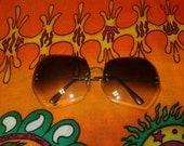 Large Blue Square Frame Sunglasses