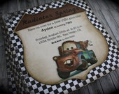 CARS...Tow Mater Invitation