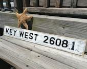 Beach Sign Custom Miles Key West Vintage Style Choose your Mileage