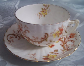 Beautiful antique bone china cup and saucer
