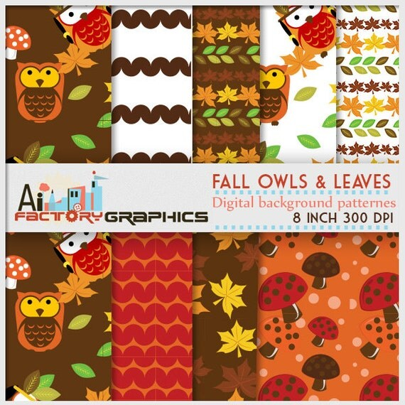 Fall Autumn thanksgovong Patterns Digital background papers