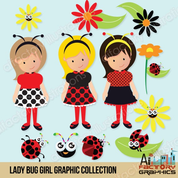 Ladybug clipart red and black polka dots , garden , commercial use, graphics, digital clip art, digital images - CA201