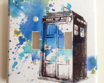 Doctor Who Tardis Decorative Double Light Switch Plate Cover