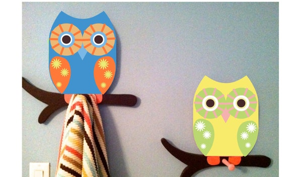 Items Similar To Owl Bathroom Decor Owl Towel Rack