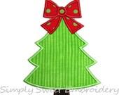 Christmas Tree Machine Embroidery Applique Design