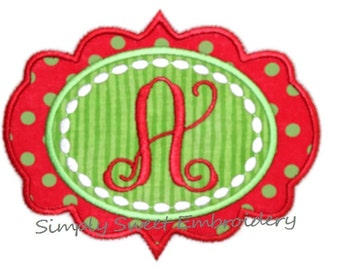 Applique Frame Machine Embroidery Design