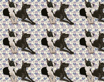 Great Danes Floral cotton fabric