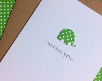 Elephant baby thank you notes