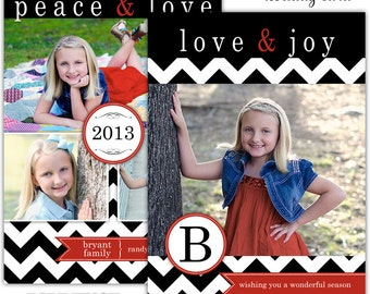 Instant Download - Photoshop PSD layered Templates for Photographers - Holiday card - Bryant family design
