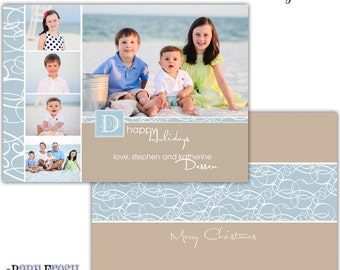 Instant Download - Photoshop PSD layered Templates for Photographers - Holiday card - Dessen Design (from the Happy Beach set)