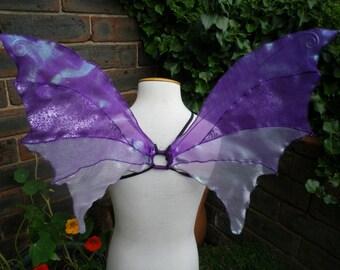 OOAK Unique Purple Iridescent Fairy Wings Woodland Fairy Costume