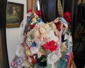 Custom Order Boho Purse  large embellished crazyquilt  GYPSY Victorian OOAK this one is now sold