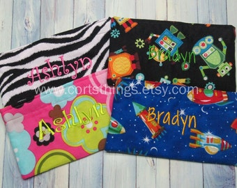 Personalized Reusable Small Snack Bags for Kids - Pick Your Fabric