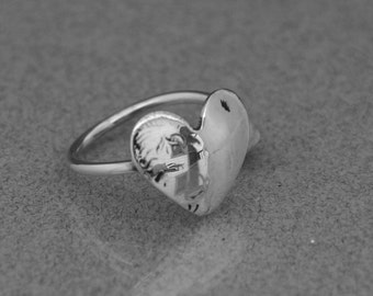 Heart Ring with single shank