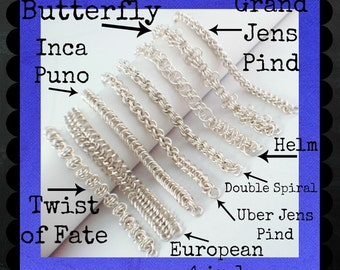 Silver Plate Craft Faire Kit − EIGHT Different Bracelets - DIY Chainmaille -Custom Hand Made Jump Rings