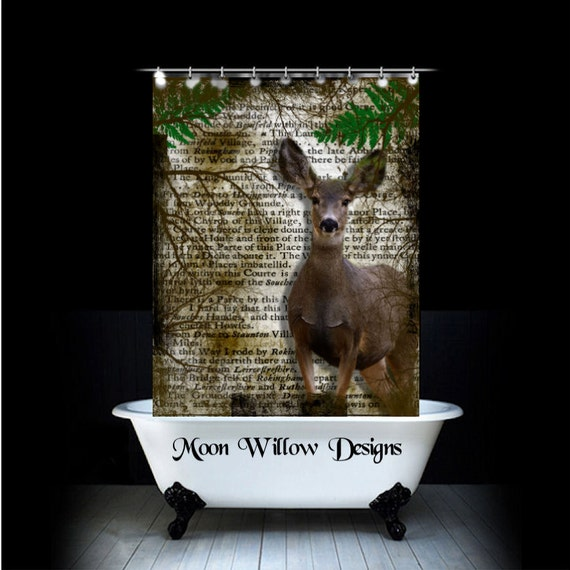 Stoff Vorhang Dusche : Deer Shower Curtain