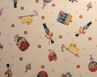 Daisy Kingdom Tossed Toys fabric Yardage