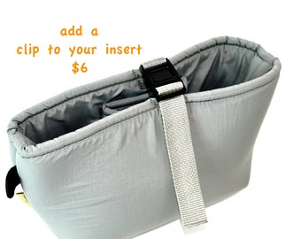 Add a clip top to your padded DSLR Camera purse insert  by Darby Mack