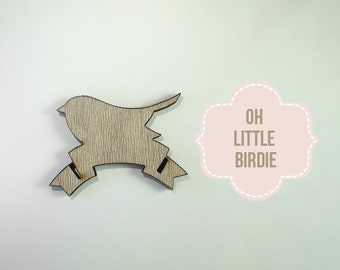 Clearance Laser Cut Birdy with Banner - Shape Supply
