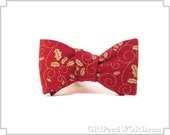 The Wenceslas -  Red and Gold Christmas Bow Tie