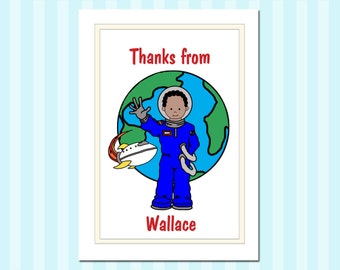 Astronaut or Outer Space Thank You Notes (Pack of 10) - Boy