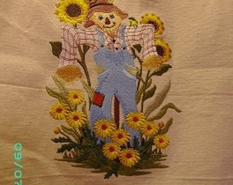 Autumn SCARECROW Canvas Totebag