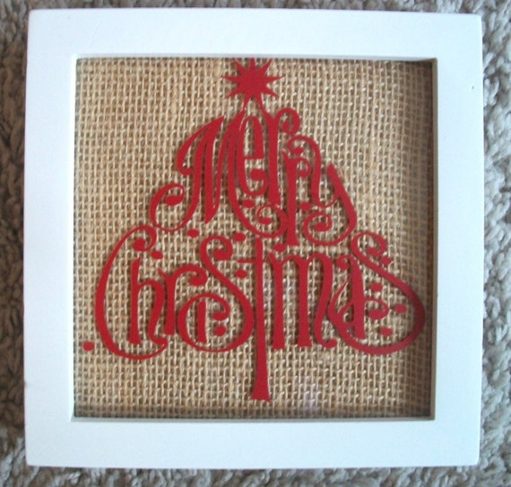 Primitive Christmas Wall Decor : Items similar to merry christmas tree primitive country