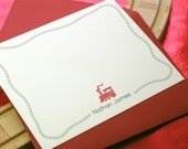 Train Caboose Stationery for Children, personalized notecards
