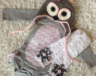 Little Owl Halloween Rufflebum Costume