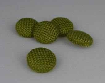 Handwoven Fabric Covered Buttons