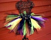 Girls Witch Tutu- Baby Witch costume -Tween Witch-  Girls Witch Costume-  Orange and Black tutu, Purple tutu, Green tutu, Toddler Witch tutu