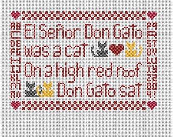 El Don Gato Sampler Cross Stitch Pattern
