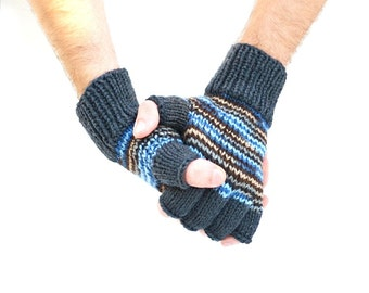Men's fingerless gloves - Coal & Ice - gift for him - winter accessories