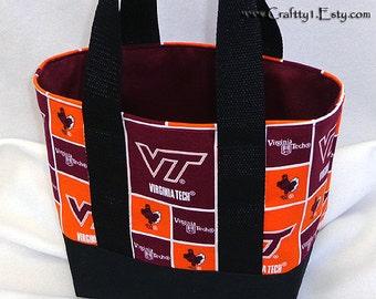 Small Tote - Virginia Tech (Black) **MTO**