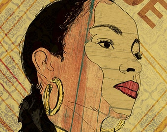 Sade Poster - Limited Edition of 100 - 13x19 Inches