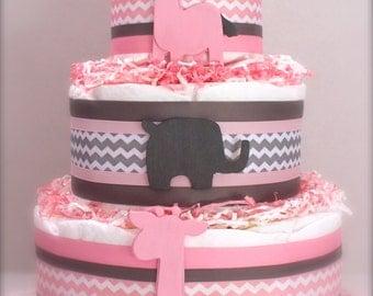 The Pink Parade Diaper Cake