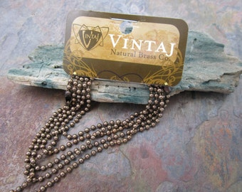 "Vintaj Natural Brass 18""  Ball Chain and Clasp"