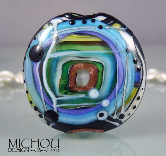 Items similar to magical luminosity 2 art glass focal for Anderson art glass