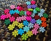 Rainbow Flower buttons - 30 buttons Only 3.50 USD