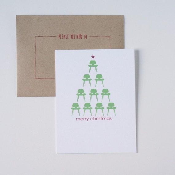Christmas Card Holiday Cards Modern Christmas Card Modern