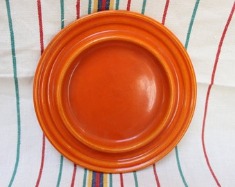 Bauer Pottery Ring Round Butter Dish Saucer Only Ringware California 1940 Covered VINTAGE by Plantdreaming