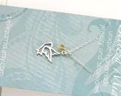 Dove Necklace - Sterling Silver Dove Birthstone Necklace - Custom Necklace