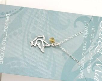 Dove Necklace - Sterling Silver Dove Necklace - Custom Necklace