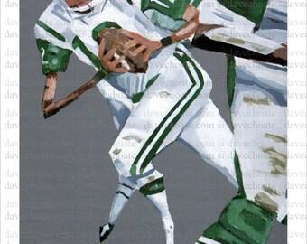 Joe Namath New York Jets ART Print from Original Painting
