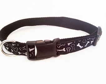Dog Collar - Bad to the Bone -Choose Your Size