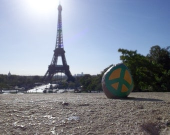 Paris Eiffel Tower Peace Rock Print