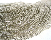 Quantity 1 -Select Lenth 16, 18, 20, 22, 24 Inch Sterling Silver 1.2 mm Ball / Bead Chain - Finished and READY TO WEAR with Spring Clasp