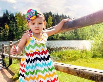 Maxi Dress Emmaline Chevron Maxi Ruffle Dress Toddler Child Summer Beach LDM