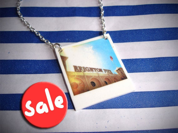 Brighton Polaroid Necklace - Brighton Rocks collection